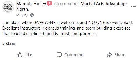 Adult 2 North, Martial Arts Advantage Tampa FL