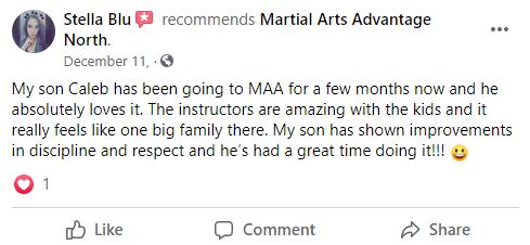 Kids 1 North, Martial Arts Advantage Tampa FL