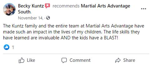 Kids 1 South, Martial Arts Advantage Tampa FL