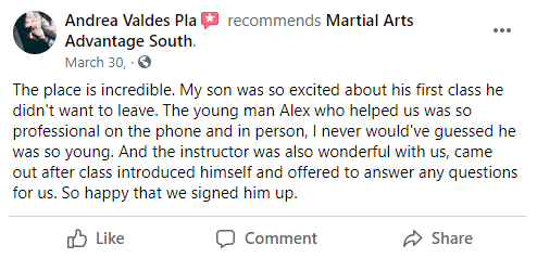 Kids 3 South, Martial Arts Advantage Tampa FL
