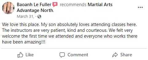 Kids 4 North, Martial Arts Advantage Tampa FL